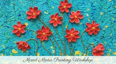 Mixed media Painting Workshop at #91BkcLaunch