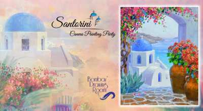 Shimmering Santorini - Painting Party