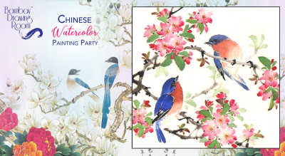 Chinese Watercolor Painting Party