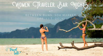 Women Traveler Bar Night