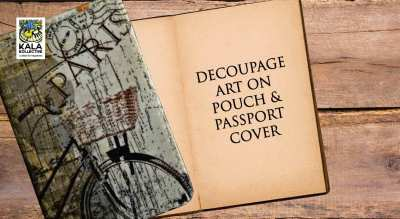 Decoupage Passport Cover and Pouch by Ami Mehta