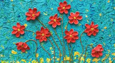 Positive vibes - Mixed media painting workshop