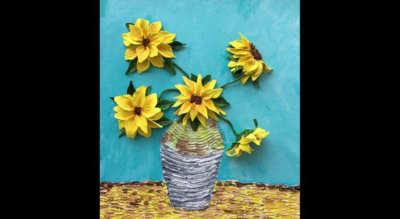 Van Gogh's Sunflowers - Mixed Media Painting Workshop