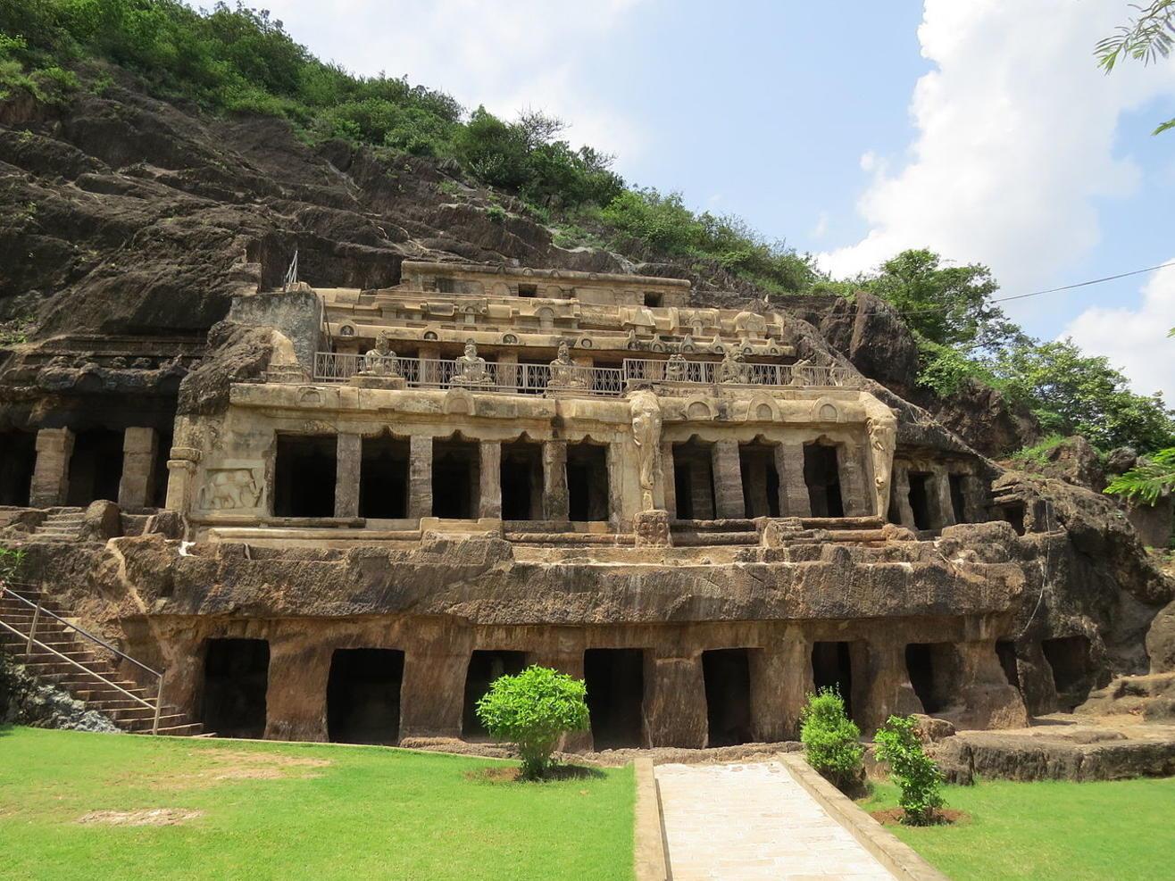 Undavalli Caves (Four Storeyed Rock-Cut Hindu Temples), Vijaywada