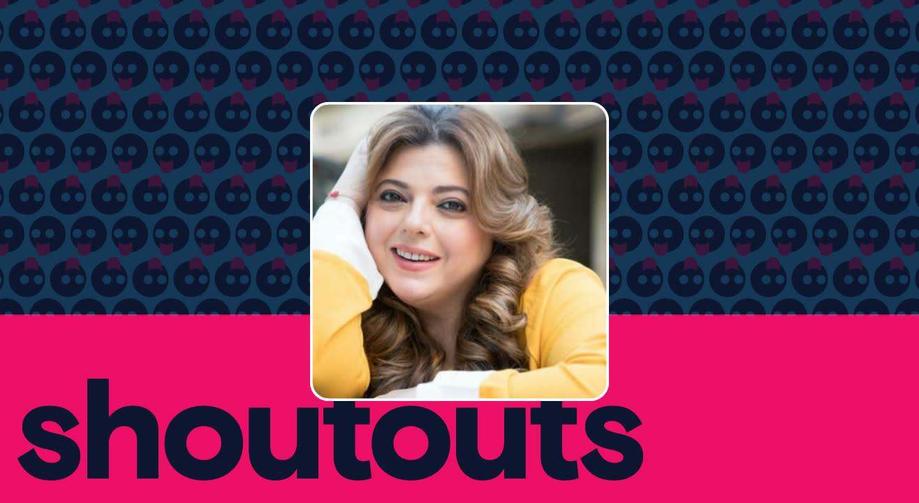 Request a shoutout by Delnaaz Irani
