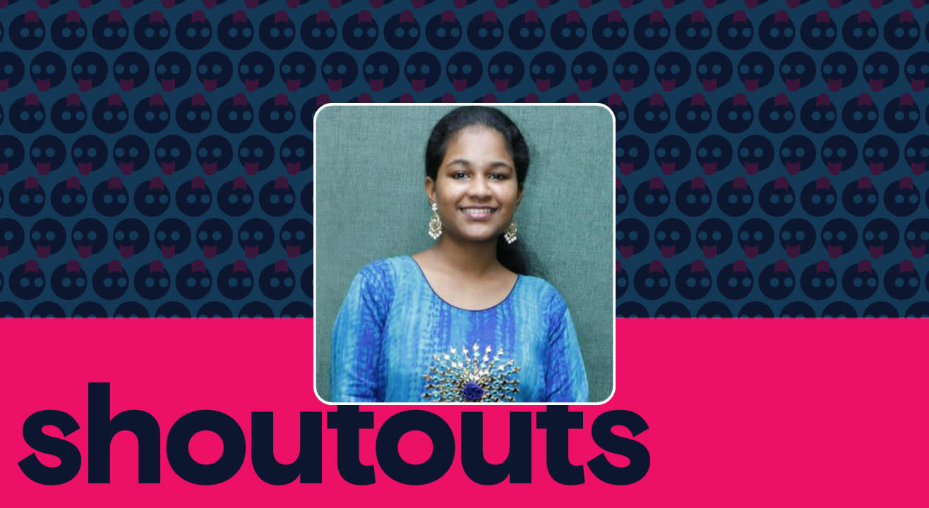 Request a shoutout by Spoorthi Jithender