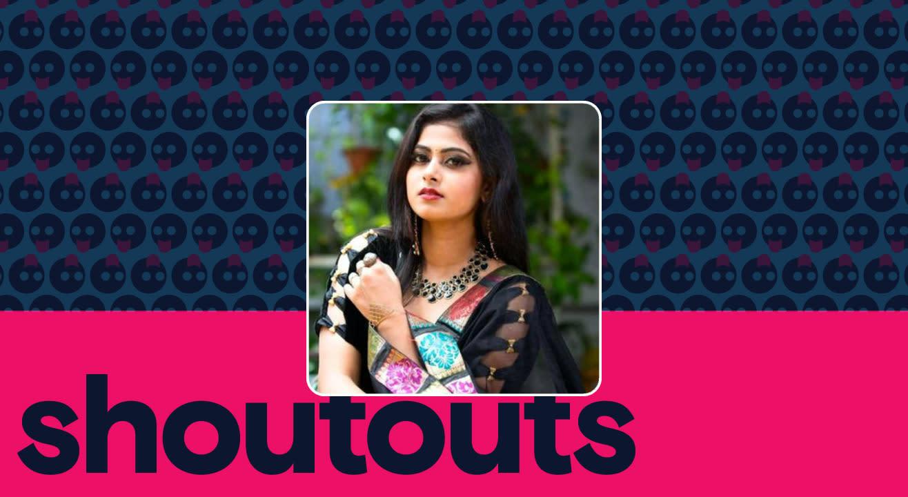 Request a shoutout by Meghashree