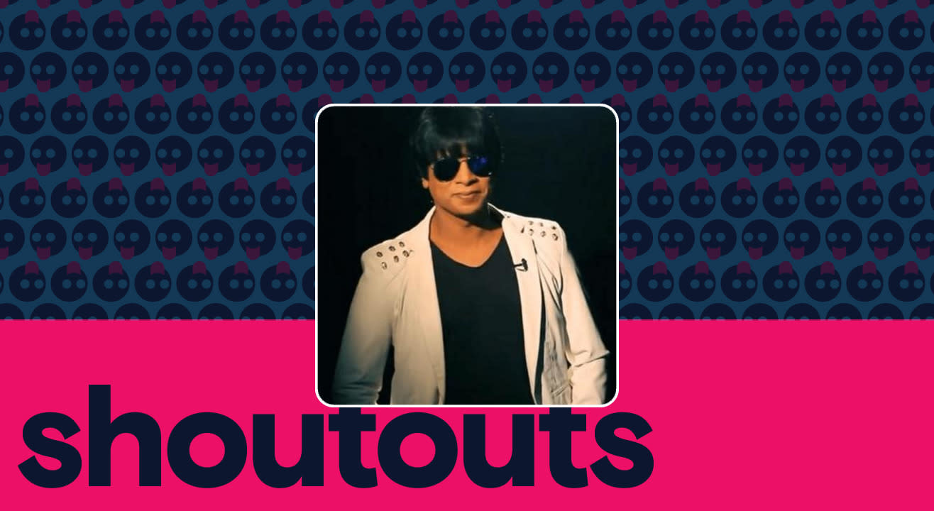 Request a shoutout by Junior Shah Rukh Khan