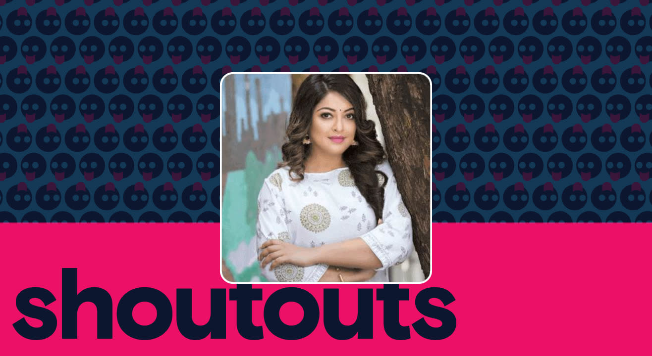 Request a shoutout by Tanushree Dutta