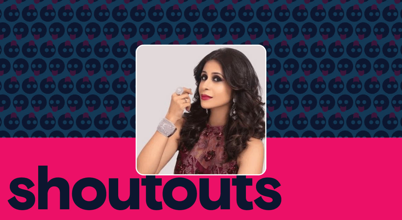 Request a shoutout for Kishwer Merchant