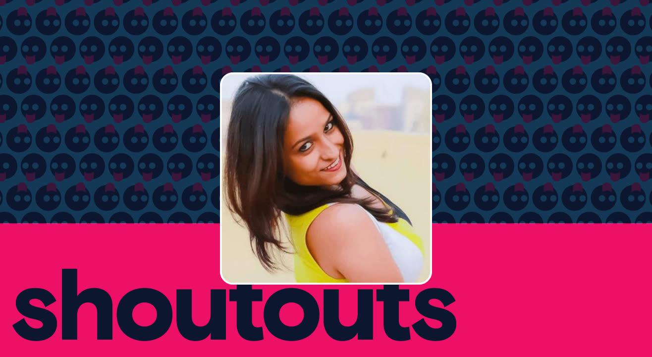 Request a shoutout for Megha