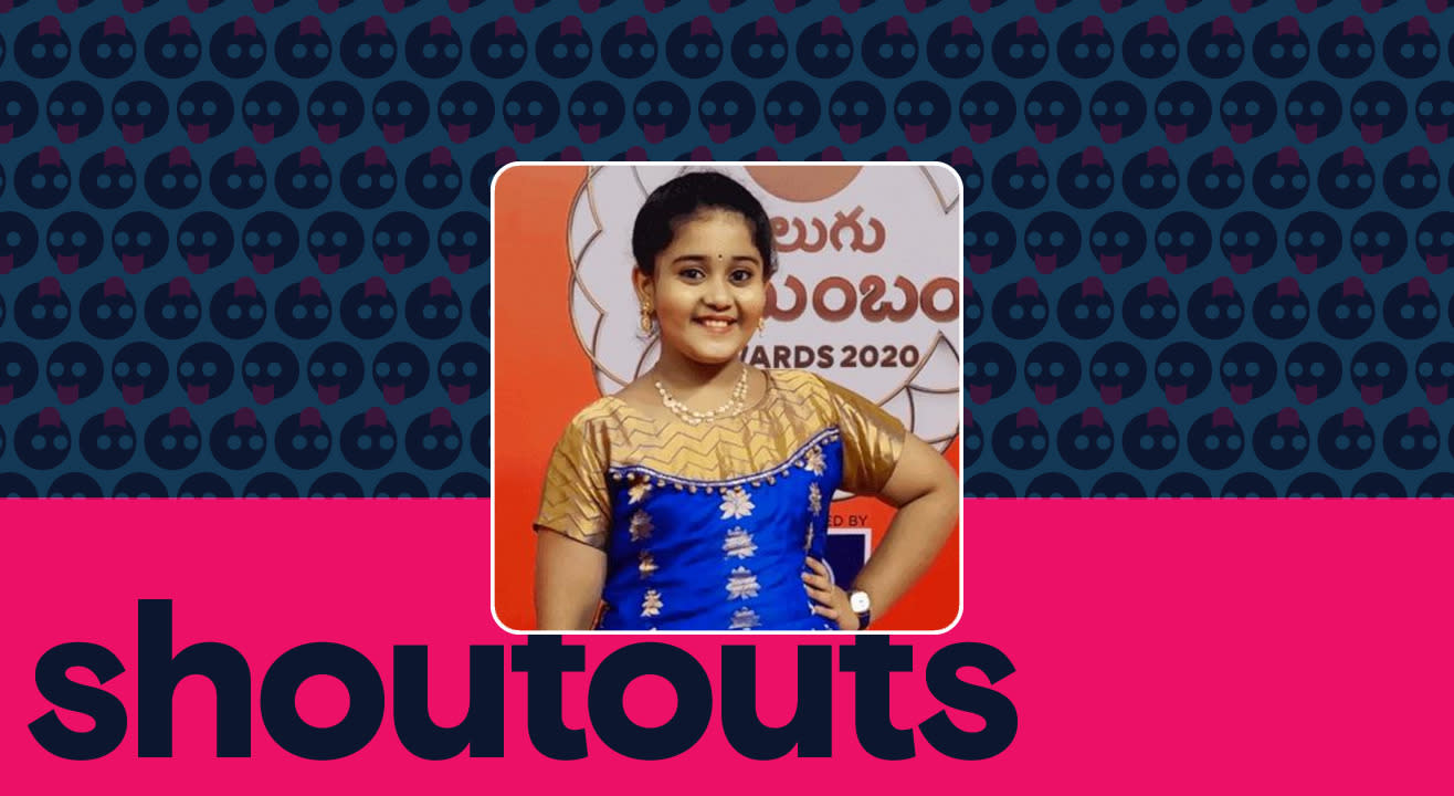 Request a shoutout for Meghana Sunil