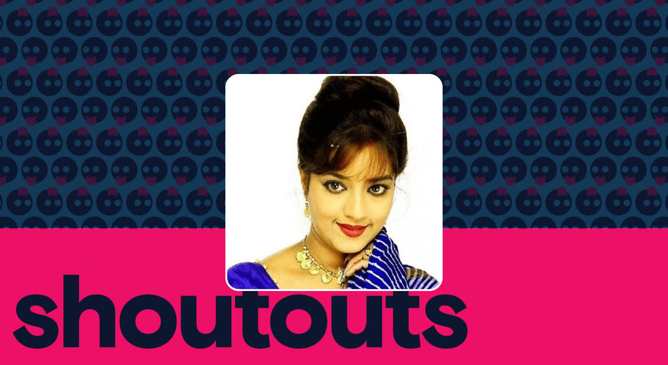 Request a shoutout for Sheela Sharma