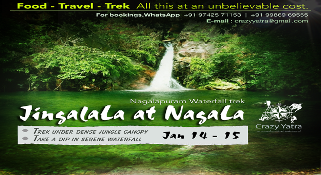 Book Tickets To Jingalala At Nagalapuram A Waterfall Trek