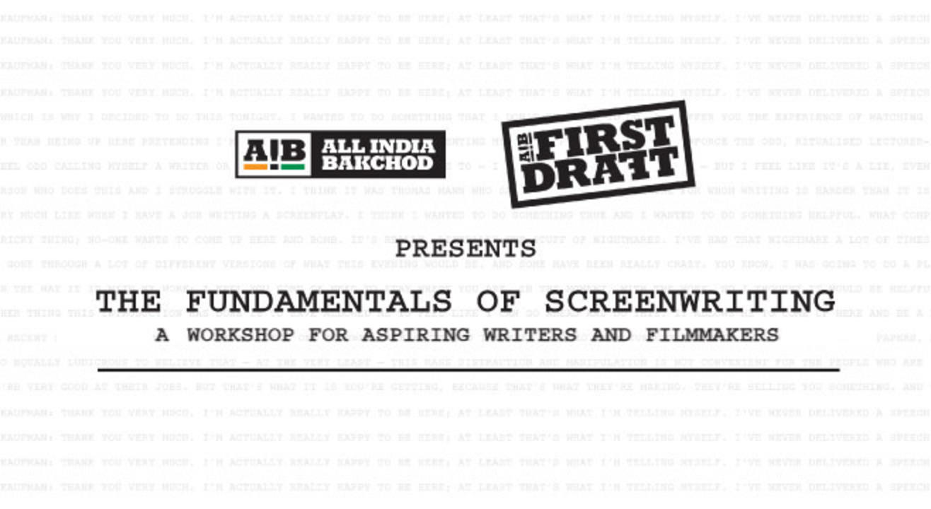 AIB First Draft Presents The Fundamentals of Screenwriting