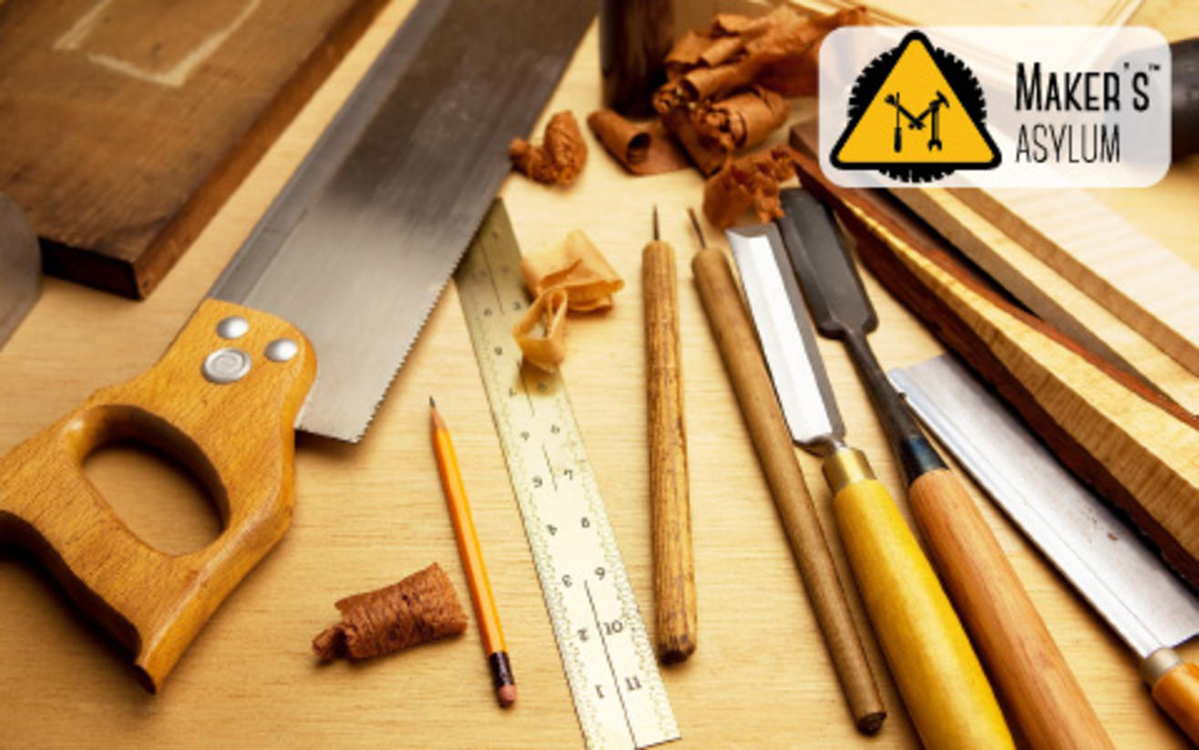book tickets to knocking on wood - carpentry class