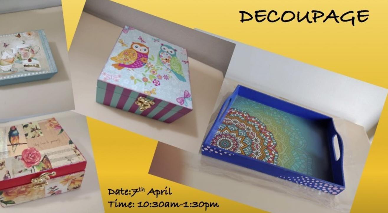 Decoupage Workshop -ART BUZZAAR 2019