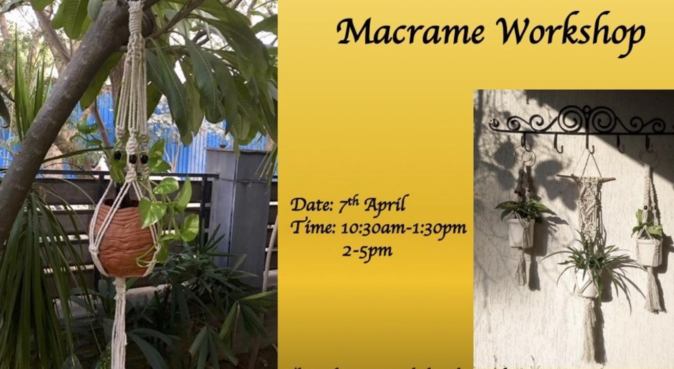 Macrame Workshop -ART BUZZAAR 2019