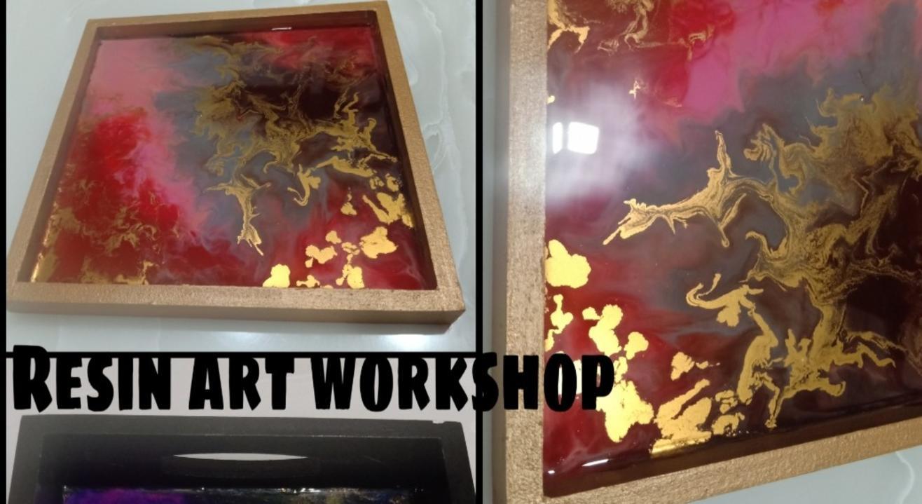 Resin & Pore Workshop - ART BUZZAAR 2019