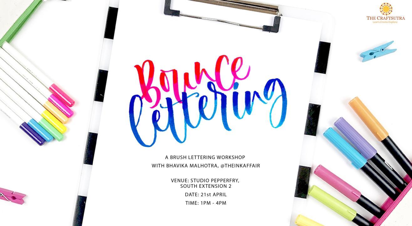 Bounce Brush Lettering Workshop