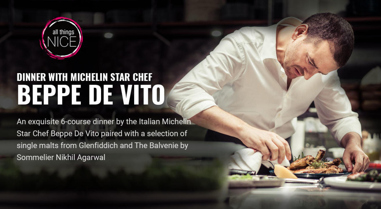 Dinner with Michelin Star Chef Beppe De Vito