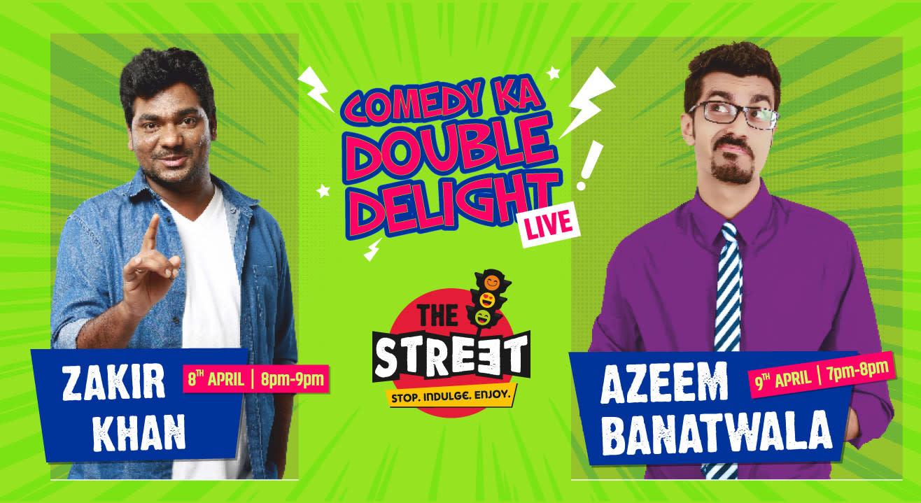 Zakir Khan And Azeem Banatwalla At The Street