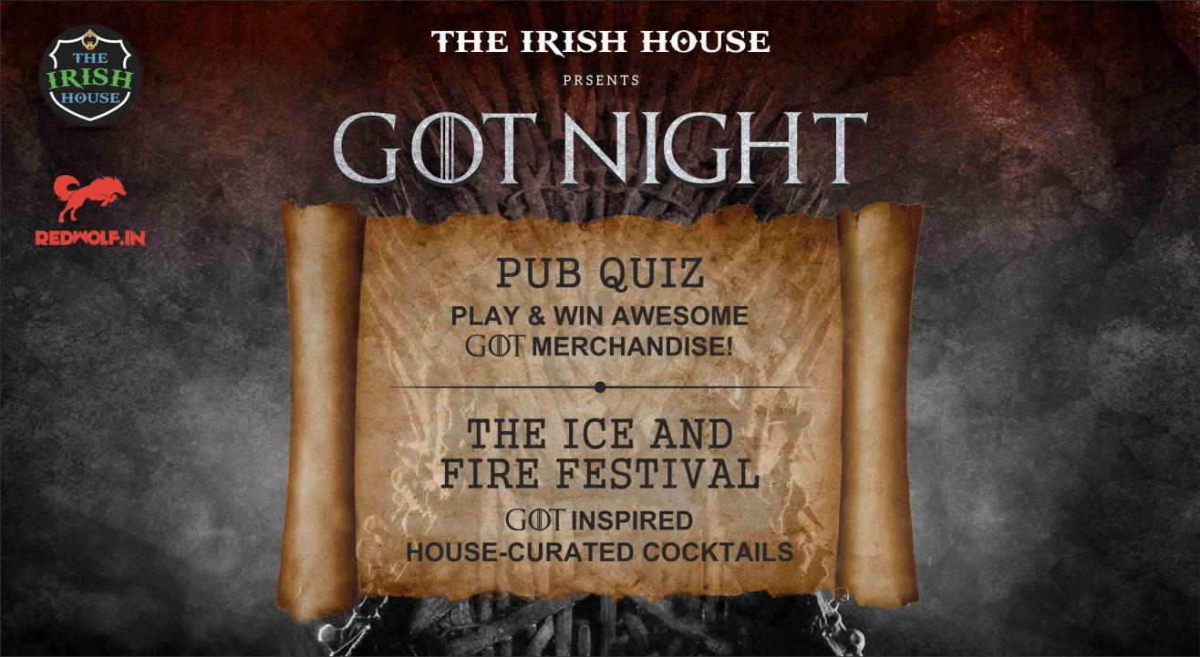 The Irish House Presents GoT Night