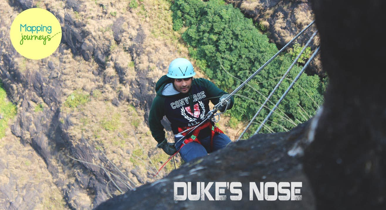 The Biggest Rappelling of Lonavala - Dukes Nose