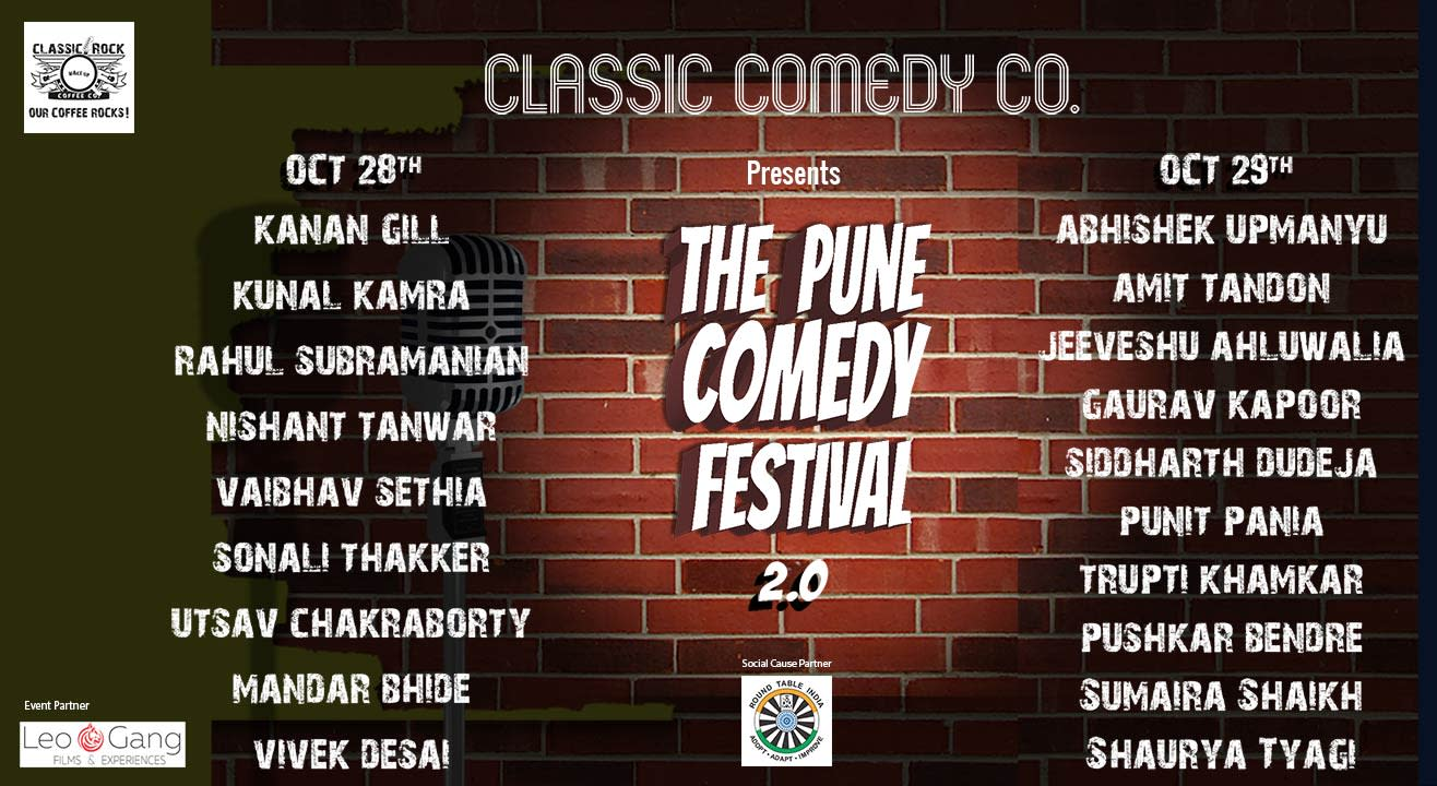 The Pune Comedy Festival 2.0 ft Kanan Gill, Abhishek Upmanyu, Kunal Kamra & more!