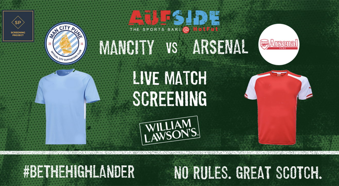 Manchester City v Arsenal Screening Pune