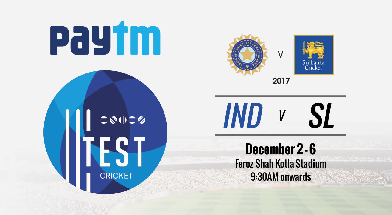 Paytm Test Series 3rd Test Match India vs Sri Lanka