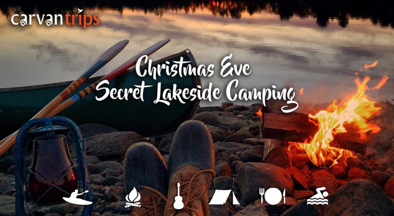 Secret Lakeside Camping on Christmas Eve
