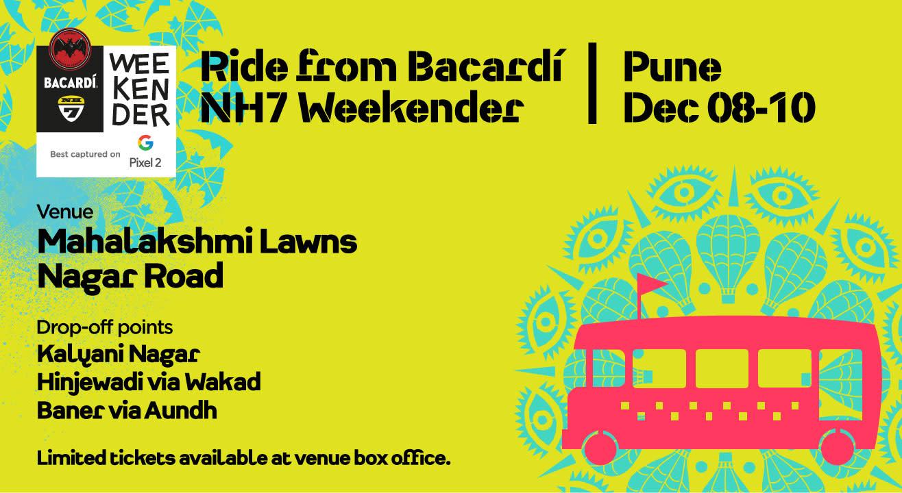 Ride from Bacardi NH7 Weekender Pune