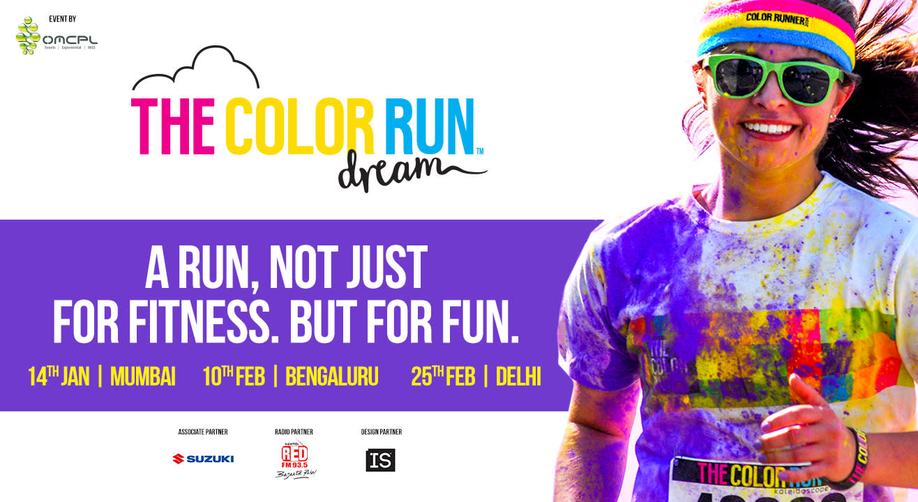 The Happiest 5k on the Planet - Color Run - comes to Mumbai, Delhi, Bangalore!