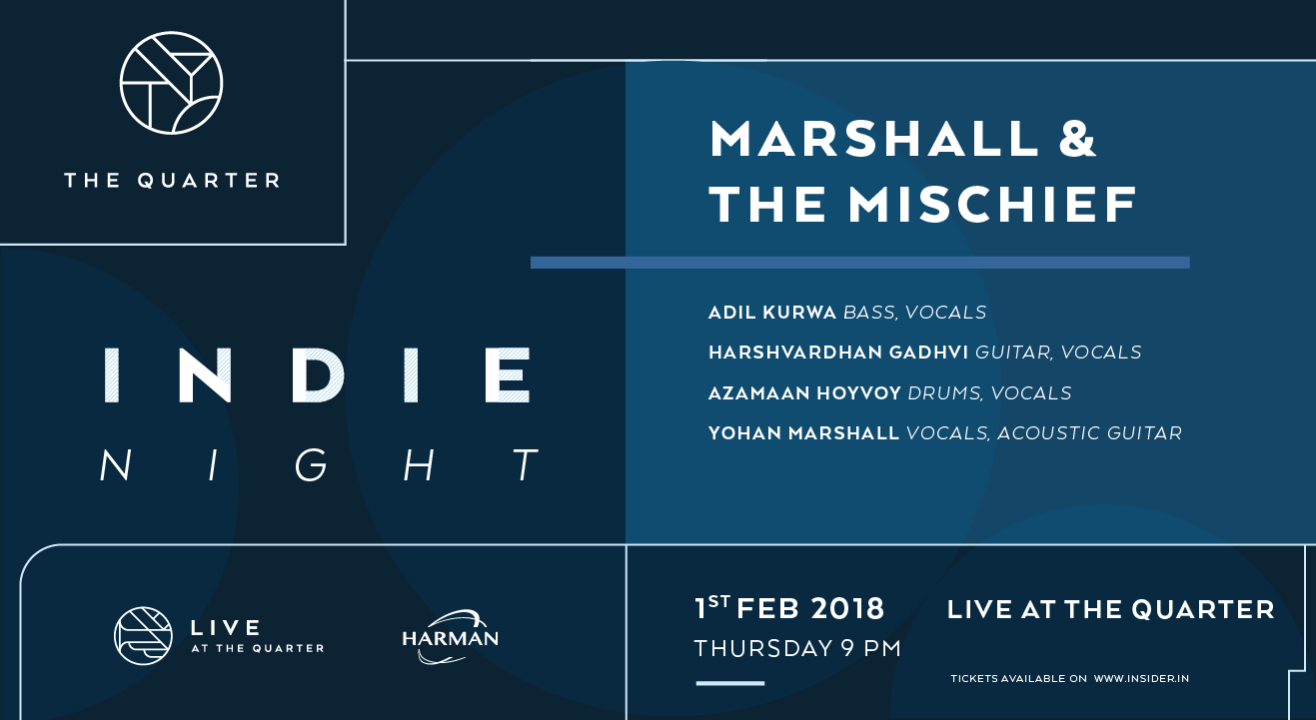Marshall & The Mischief at The Quarter