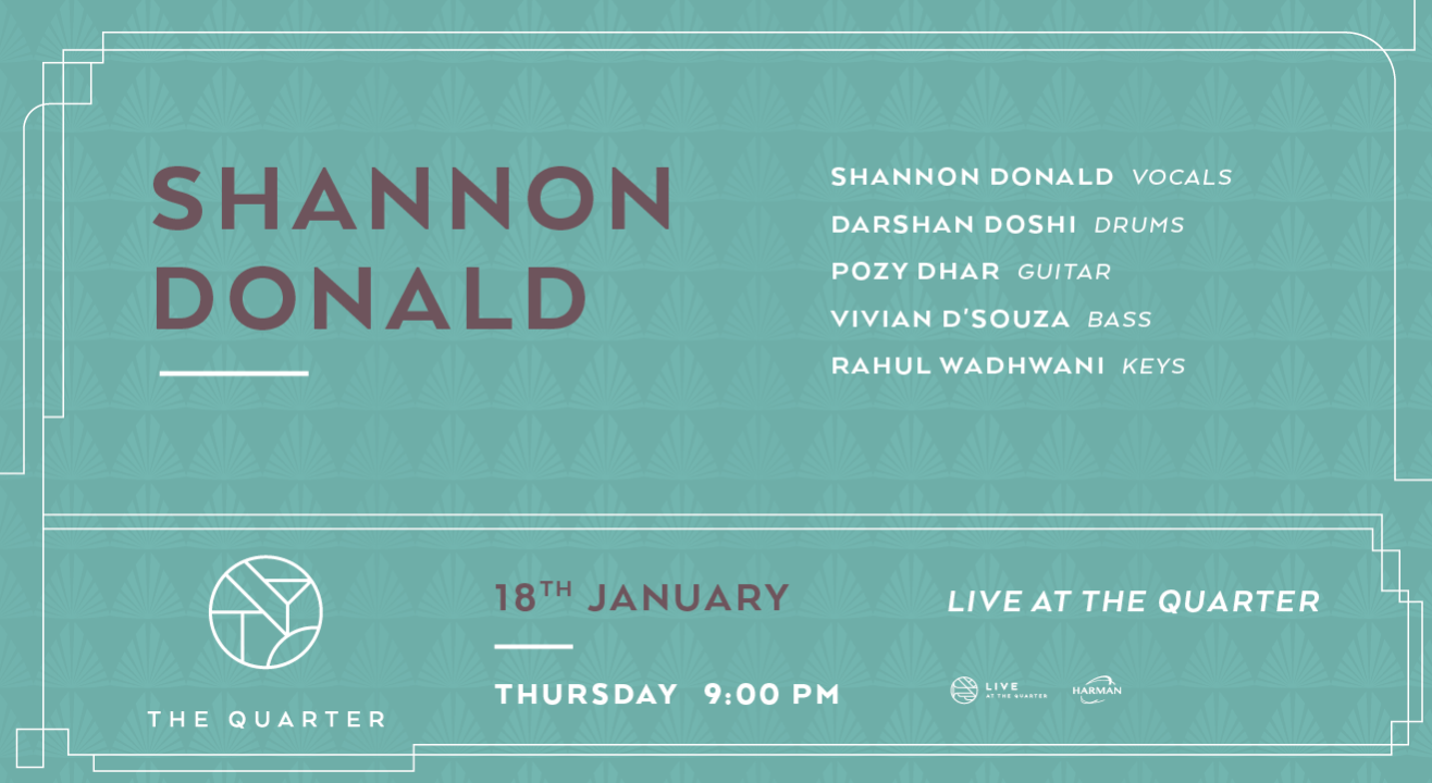 Shannon Donald at The Quarter
