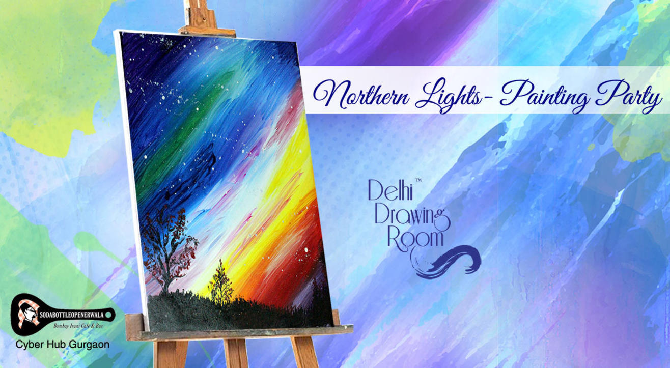Northern Lights Painting Party