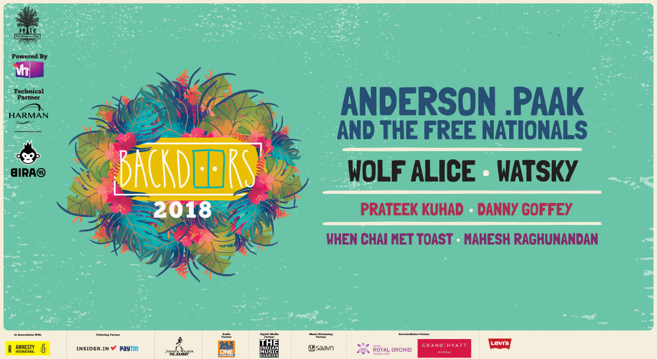 The Humming Tree's Backdoors 2018: Anderson .Paak and The Free Nationals, Wolf Alice & More!