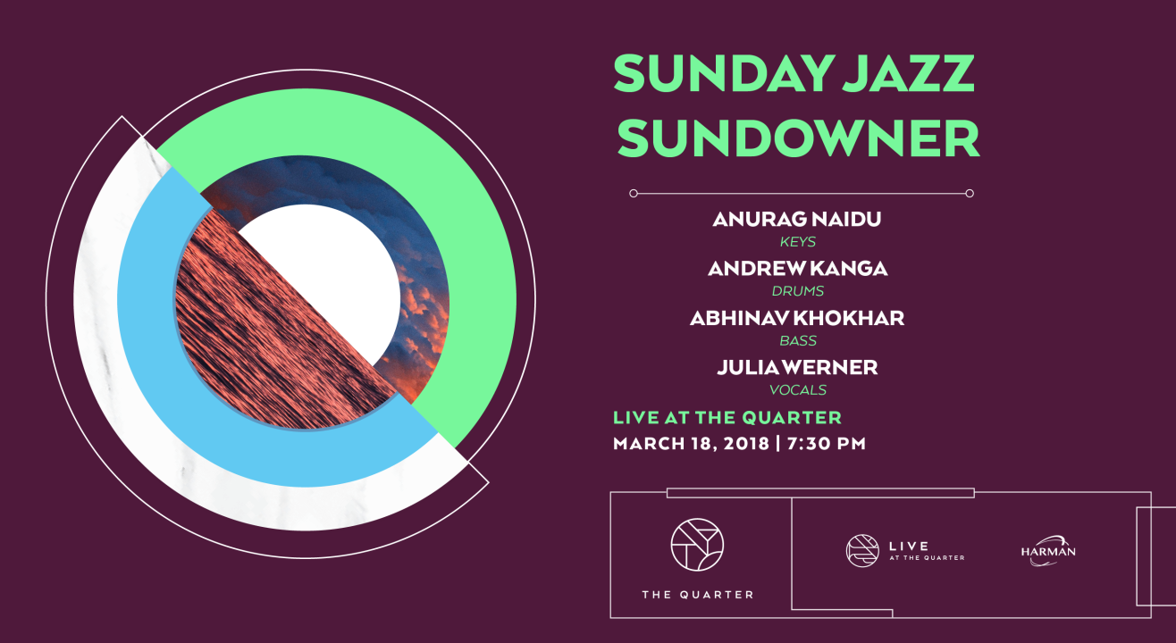 Sunday Jazz Sundowner with Anurag, Andrew, Abhinav and Julia