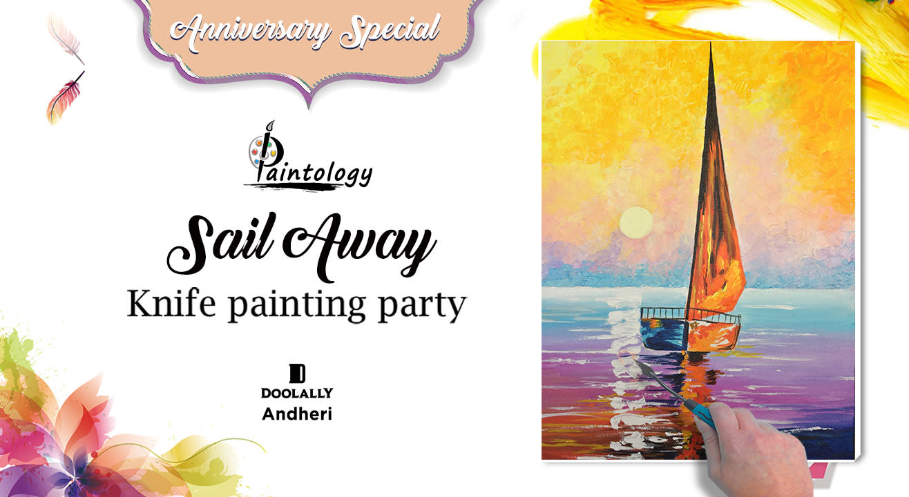 Sail Away - Knife painting party