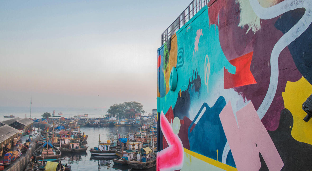 St+art India Curated Tour- Sassoon Dock Art Project
