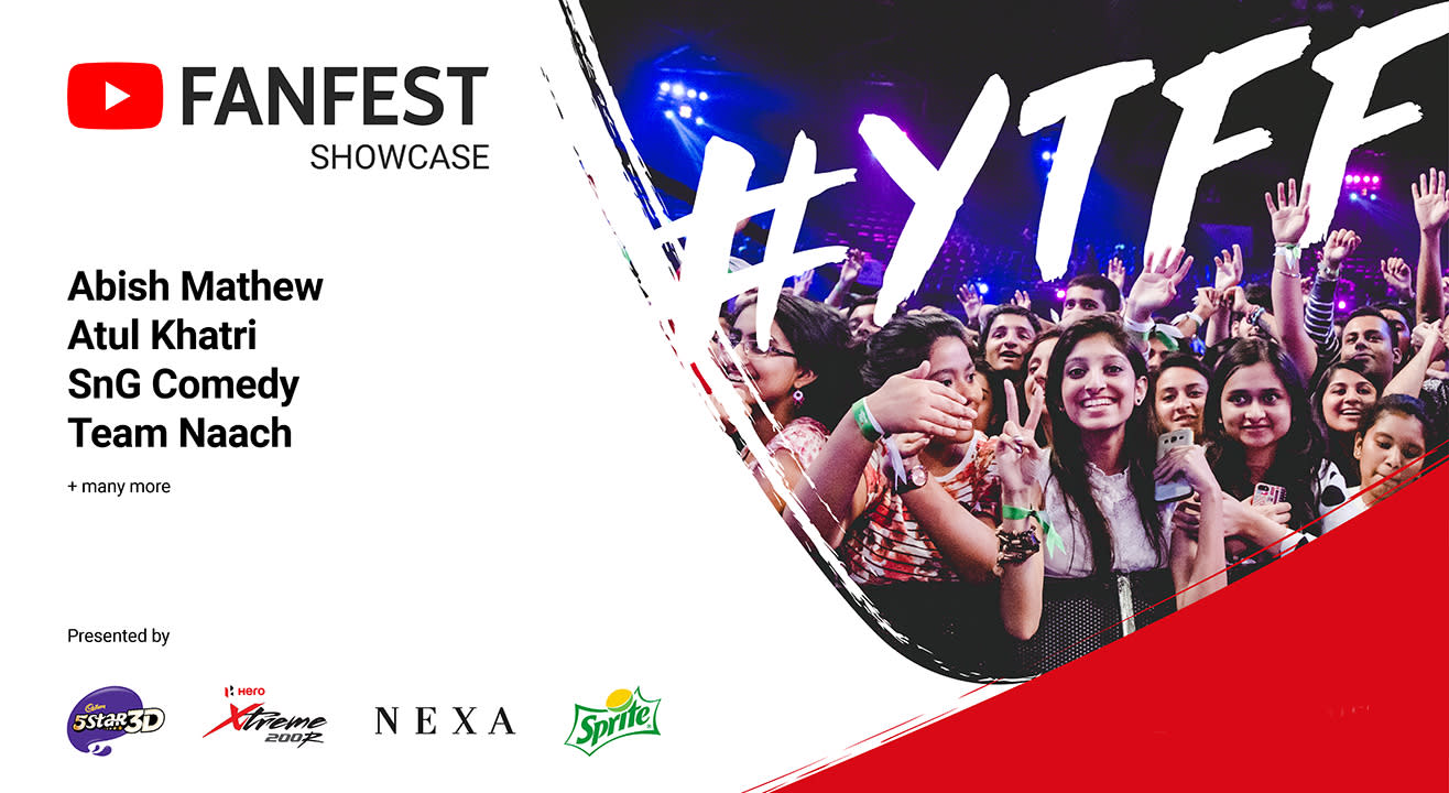 YouTube FanFest Showcase, Bengaluru
