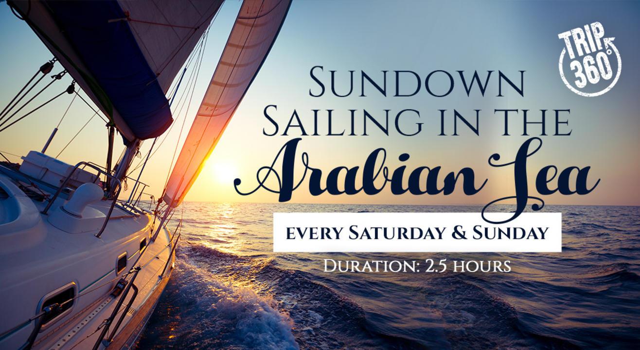 Sundown Sailing In The Arabian Sea