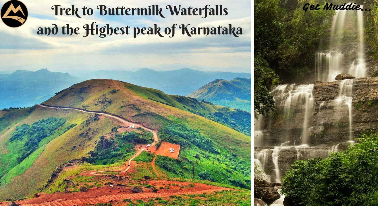 Trek to Buttermilk Waterfalls & Highest peak of Karnataka with Muddie Trails