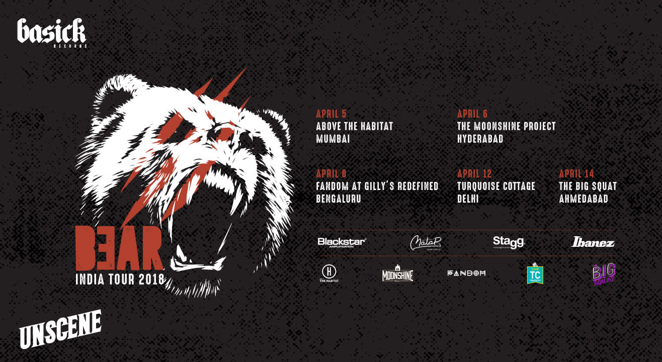 Belgian Metal Act BEAR Are Playing Across India!