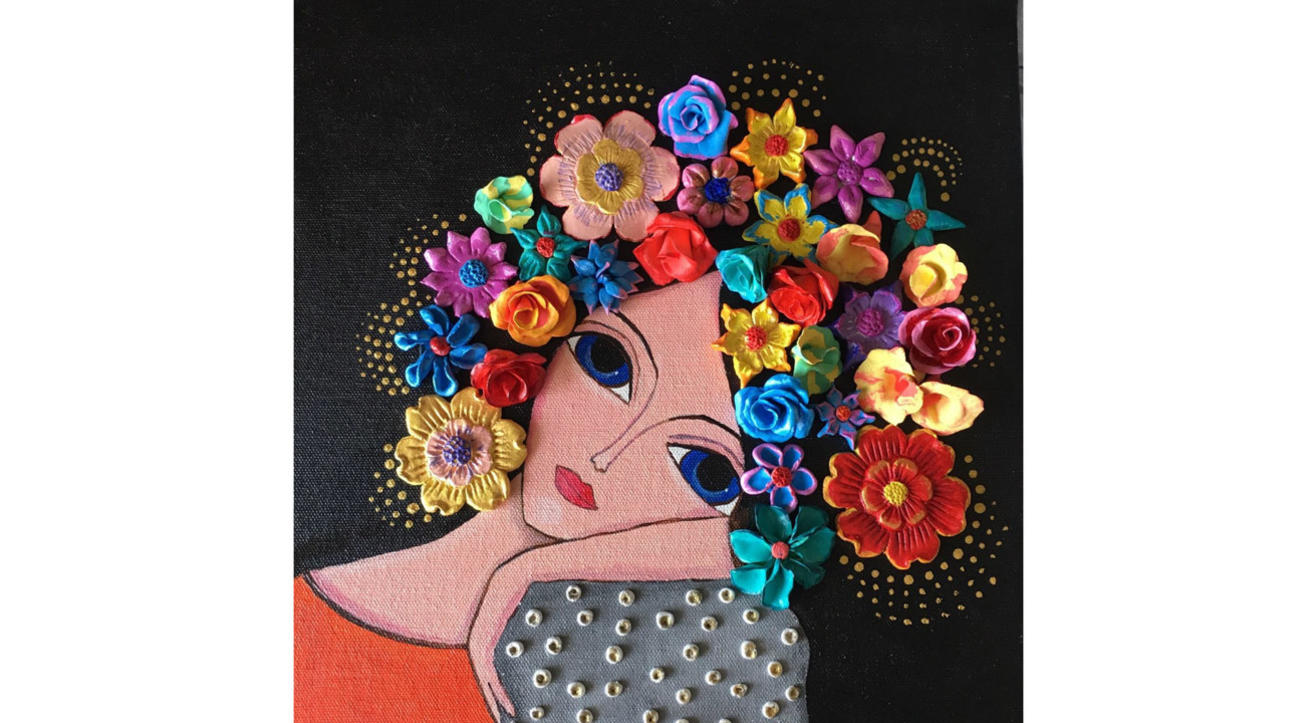 Dream girl - Mixed media painting workshop