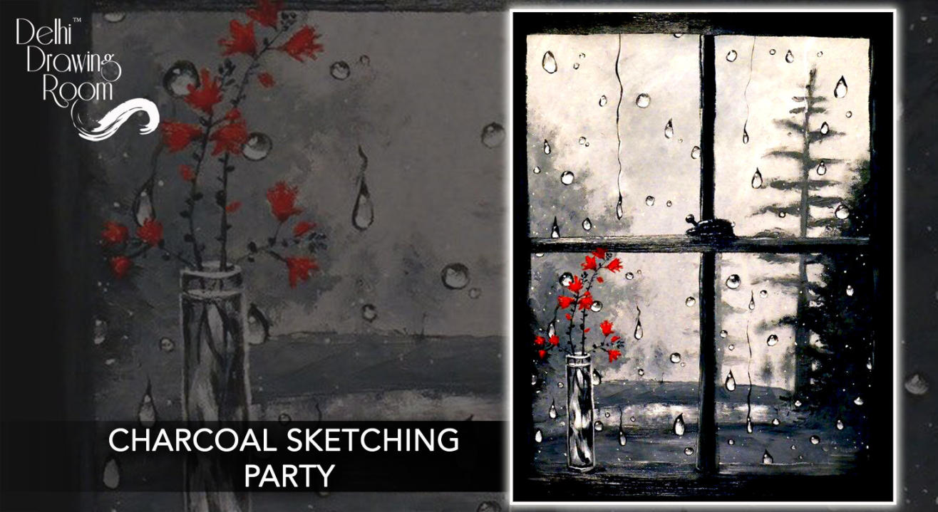 Charcoal Sketching Party by Delhi Drawing Room