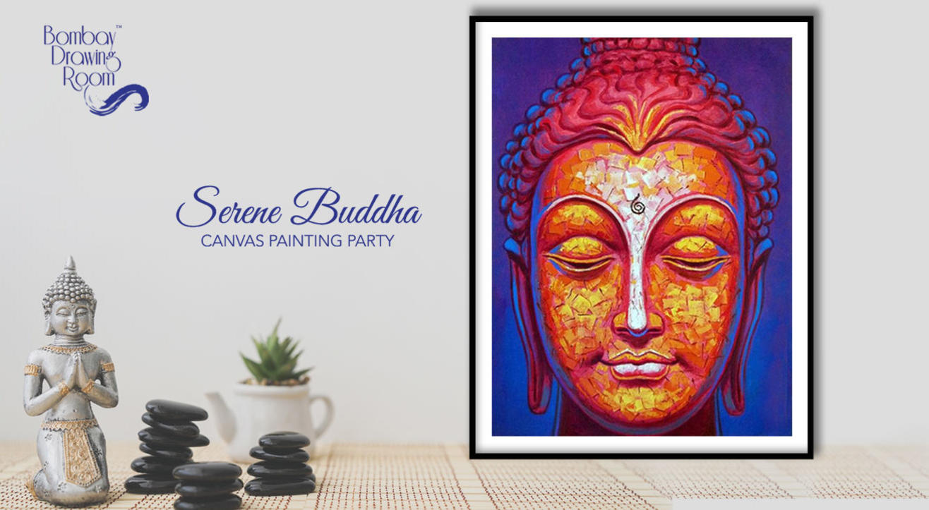 Serene Buddha - Canvas Painting Party by Bombay Drawing Room