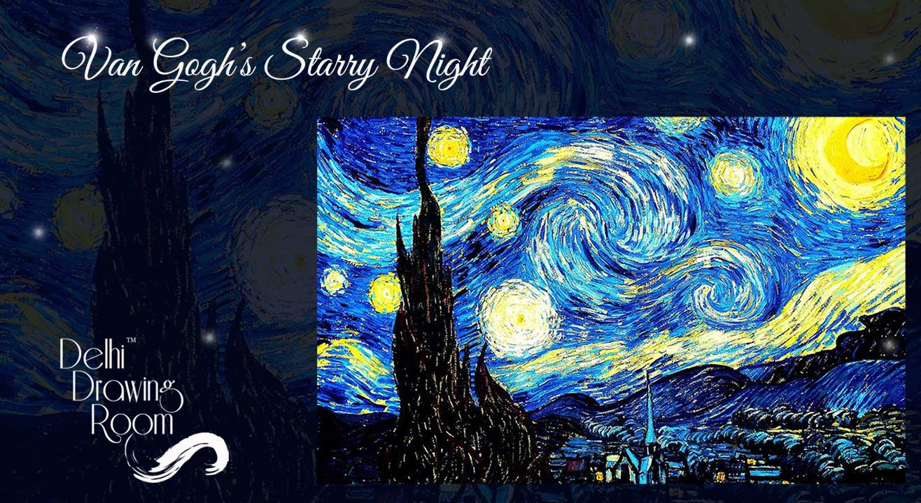 Van Gogh's Starry Night- Painting Party by Delhi Drawing Room