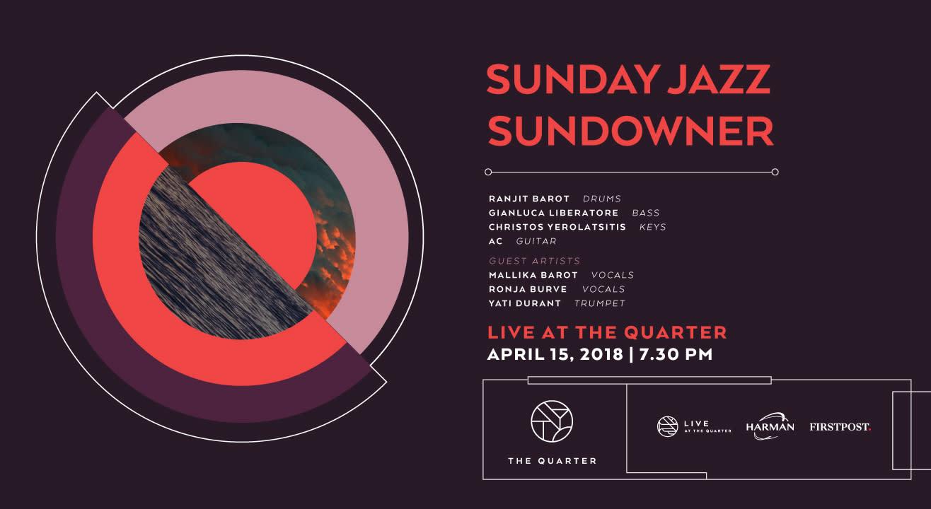 Sunday Jazz Sundowner at The Quarter with Ranjit, Gianluca, AC, Christos, Mallika and Ronja and Yati